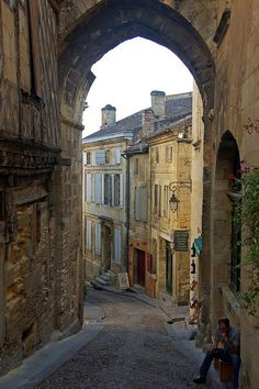 Saint-Émilion, Aquitaine, France >>> Lovely little hill town in one of France's best wine regions, east of Bordeaux. Just try to avoid driving in it! A very easy town to get lost in.
