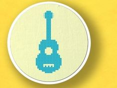 Guitar. Musical Instrument Cross Stitch PDF Pattern