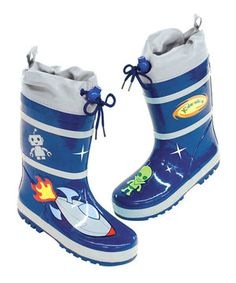 Look what I found on #zulily! Kidorable Blue Space Hero Rain Boot by Kidorable #zulilyfinds