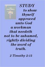 2 Timothy  2:15  For more on how to study, go to:  http://bible.org/article/studying-scriptures