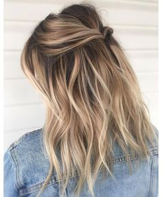 balayage hair brunette with blonde - balayage hair ; balayage hair brunette with blonde ; Medium Blonde Hair, Balyage Short Hair, Medium Balayage Hair, Balayage Hair Brunette With Blonde, Blond Brown Hair, Blonde Hair For Brunettes, Grown Out Blonde Hair, Brown Hair Balayage Blonde, Dying Hair Blonde