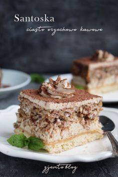 Ciasto Santoska – Zjem to! Polish Recipes, Homemade Cakes, Tiramisu, Recipies, Deserts, Food And Drink, Sweets, Snacks, Cookies