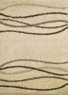 Shaggy Waves Natural Area Rug