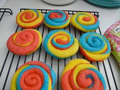 Biscuits spirale arc en ciel6