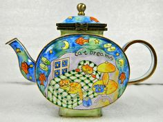 High Quality Enamel Decorated Teapot Ideas