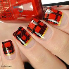 Plaid nails UberChic Beauty Pretty in plaid stamping plate O.I Candied Kingdom Stamping Nail Art, Stamping Plates, Plaid Nails, Nail Sizes, Autumn Nails, Us Nails, Simple Nails, Gel Nail Polish, Natural Nails