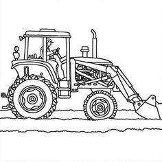 36 Best Tractor Coloring Page Images In 2020 Tractor Coloring