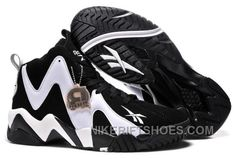 07d6eb01722b75 Reebok Kamikaze II Mid Mens Fashion Sneaker Basketball Black White Top  Deals HGPWh