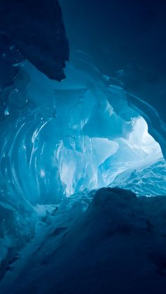 Antarctica Ice Cave- bit worried about the formation at the front which might just be a Xenomorph....