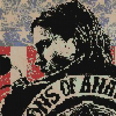 Sons of Anarchy counted Cross Stitch Pattern Jax Teller Charlie Hunnam $4.99