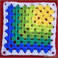 Ravelry: Modern Mitered Granny Square Pattern by Sue Rivers I know it& crochet . : Ravelry: Modern Mitered Granny Square Pattern by Sue Rivers I know it& crochet … but I loved the pattern for a quilt … and […] Motifs Granny Square, Crochet Motifs, Granny Square Crochet Pattern, Crochet Blocks, Crochet Squares, Crochet Blanket Patterns, Crochet Stitches, Free Crochet, Knitting Patterns