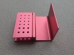 5Pcs 18 Holes Dental FG RA Bur Burs Holder Autoclave Block Box New Pink #Shaind2014