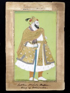 Sultan Abul Hasan of Golconda (reg. Abul Hasan, Islamic Paintings, The Siege, Swords And Daggers, Indian Artist, South India, Hyderabad, Ruler, Art And Architecture