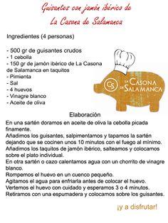 Guisantes con #jamón #ibérico de La Casona. http://www.jamonibericosalamanca.es