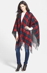 Accessory Street 'Double Plaid' Reversible Ruana