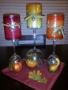Fall centerpiece to go along with my kitchen wine theme!