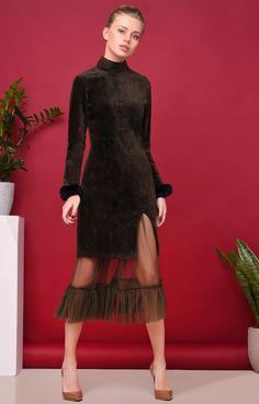 Платье из бархата со съемной фатиновой юбкой Name / 2000000250159-0