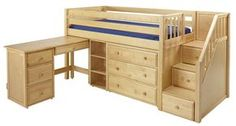 Low loft bed with stairs (steps)   MaxtrixOnline.com