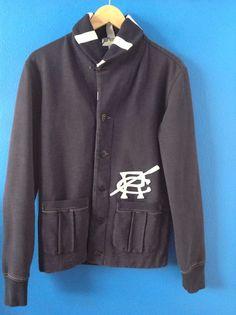 RALPH LAUREN RUGBY & CO. Men's Blue Cardigan Sweater Size XS #RalphLauren #Cardigan
