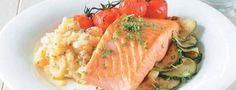 Losos se zeleninovou kaší Lower Cholesterol Naturally, Ldl Cholesterol, Cantaloupe, Salmon, Turkey, Fish, Chicken, Meat, Fruit