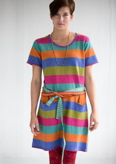Striped tunic in linen/cotton – Sweaters & cardigans – GUDRUN SJÖDÉN – Webshop, mail order and boutiques | Colorful clothes and home textiles in natural materials.
