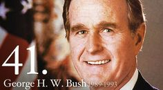 he is George Herbert Walker Bush.  he went to gulf war at 1990.  i born in 1990 too.  when i was born, many people was dying at Iraq.