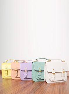 Sorbet satchels. www.figleaves.com #SS13TREND