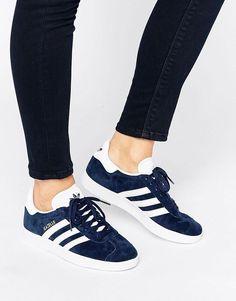 Adidas | adidas Originals Navy Suede Gazelle Sneakers at ASOS