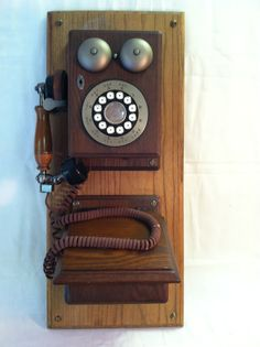 """Antique Vintage Western Electric Rotary Junction Wooden Wall Telephone; This telephone would make the perfect finishing touch for that """"Classic Country Kitchen"""" or """"Traditional Family Room""""  Excellent Condition and Works Perfect"""
