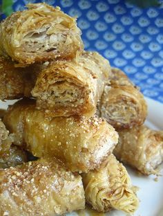 Almond Baklava - Natural Sweet Recipes. OMG! I would eat all of them! Love baklava Love almonds!