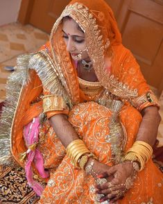 Image may contain: 1 person Rajasthani Bride, Rajasthani Dress, Indian Wedding Couple Photography, Indian Wedding Bride, Indian Bridal Fashion, Indian Bridal Wear, Rajputi Dress, Sleeves Designs For Dresses, Royal Dresses