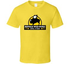0e333101a76 Buffalo Wild Wings Grill And Bar Fast Food Restaurant Logo T Shirt