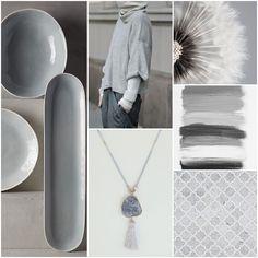 Grey stone necklace Dis Bibisse