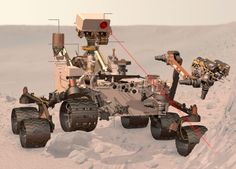 The size of a small car, Curiosity is much larger than previous Mars rovers and carries 10 science instruments