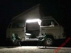 Magnetic LED Light Strip - GoWesty Camper Products - parts supplier for VW Vanagon, Eurovan, and Bus Beach Rides, Vw Vanagon, Campervan Interior, Silver Bullet, Led Light Strips, Get Outdoors, Vw Bus, Strip Lighting, Weekender