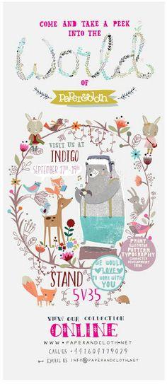 paper and cloth design studio - indigo eflyer