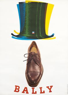 Pierre Augsburger Poster: Bally (shoe and tophat)
