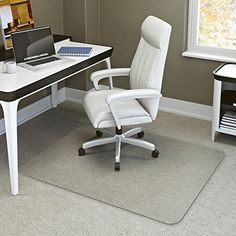 """Mat Depot Deluxe Chair Mat, Beveled Edge, 46x60 inches, 3/16"""" thick, Clear"""