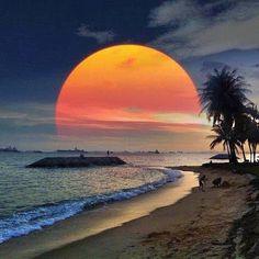 "Nature Nature Beautiful ""NATURE"" pictures please Visit, like , share & tag! Beautiful Moon, Beautiful Sunrise, Beautiful World, Beautiful Places, Wonderful Places, Nature Pictures, Cool Pictures, Cool Photos, Beautiful Pictures"
