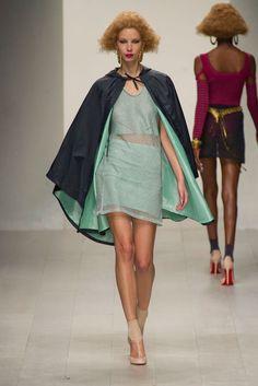 Love the cape. Mark Fast Spring 2013