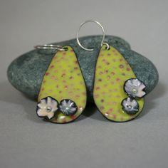 Flowering Opuntia Enamel Earrings. $45.00, via Etsy.
