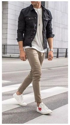 Stylish Mens Outfits, Casual Outfits, Men Casual, Smart Casual Menswear, Mode Masculine, Vans Converse, Converse Style, Best Casual Shirts, Denim Shirt Men