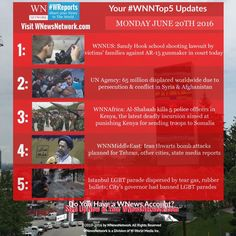 #HappyMonday & first day of #summer! #WNNtop5: Brings you the world news you rely on all in one place from #WNewsNetwork