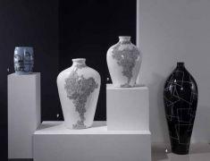 jarrones decorativos coleccion grabados