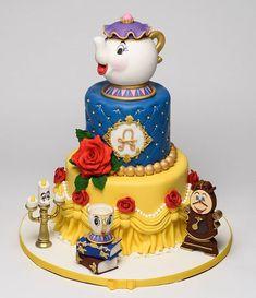 Beauty And Beast Cake, Beauty And The Beast Cake Birthdays, Beauty And The Beast Wedding Cake, Beauty And Beast Birthday, Candy Birthday Cakes, Elegant Birthday Cakes, Birthday Cake Girls, Cakes Originales, Cake Wallpaper