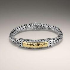 John Hardy Palu 22kt Gold and Silver Station Bracelet