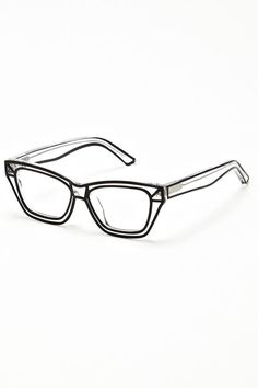Ksubi Sigma Eye Glasses That Are Totally Transparent, Clear But Has A Thin Border Of Black All Over The Frame.