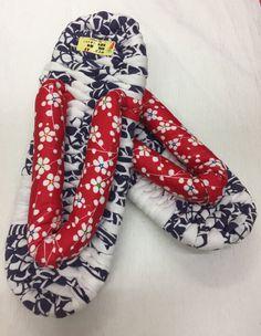 "Japanese sandal ZORI "" Japanese plum blossom red hanao"" 24.5 cm/ 9.6 inches by ARTradeJAPAN on Etsy"
