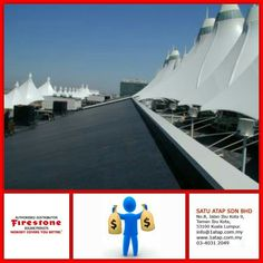 """Denver Airport roofing masterpiece - they are using Firestone EPDM roof membrane.  Every """"Masterpiece"""" marks the attainment of its age and endures as profit, reputation & prosperity. Your investment in Firestone roofing system bringing you faster to your aim.   Firestone endures profit, reputation & prosperity for loong time."""