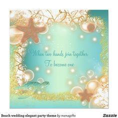 Beach wedding elegant party theme